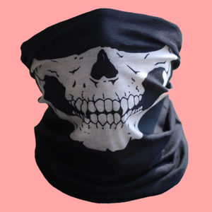 Accessories - SKULL BANDANA - Tube Scarf Multi-Use Rave Fashion